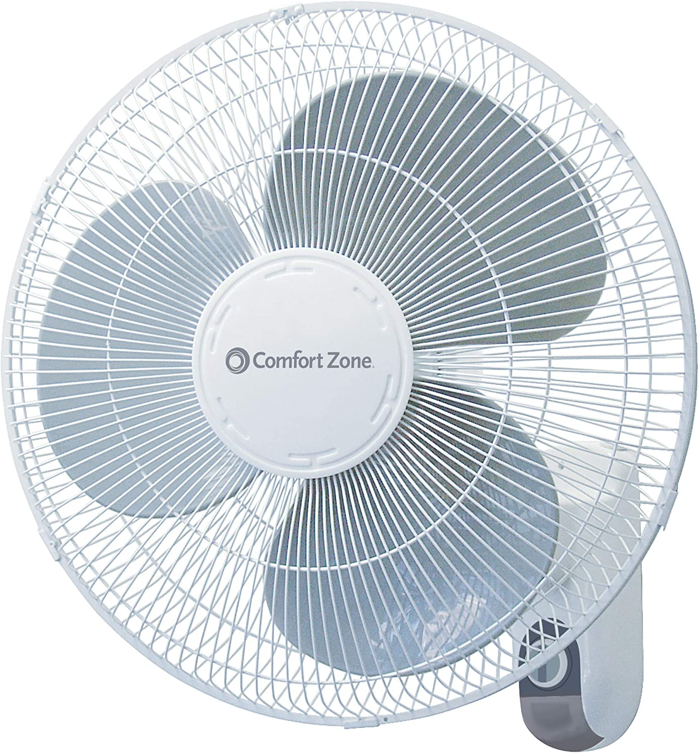 Comfort Zone 16-inch Wall-Mounted Fan with 3-Speed